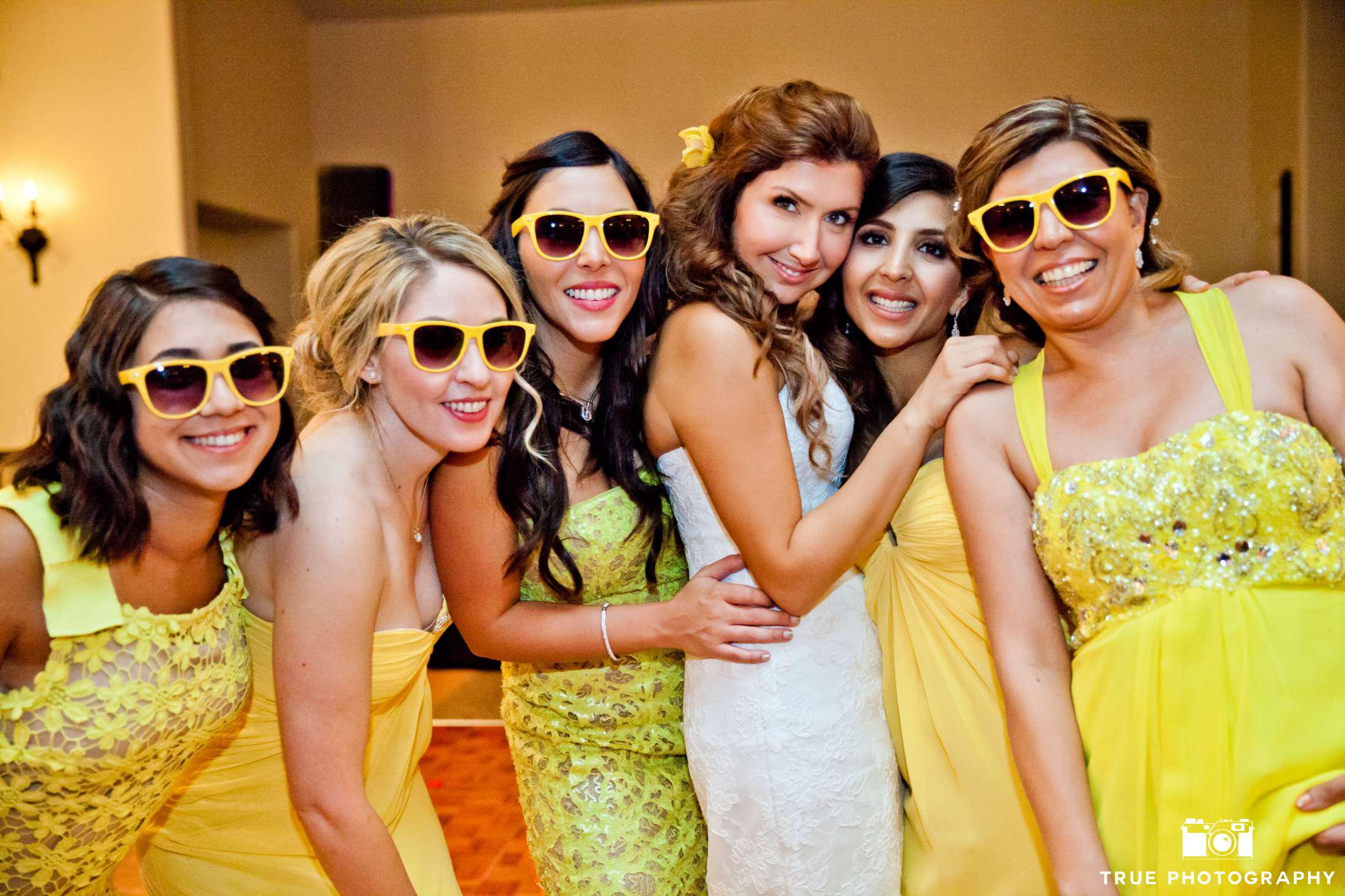 Citrus Wedding Colors Yellow Bridesmaid Dresses