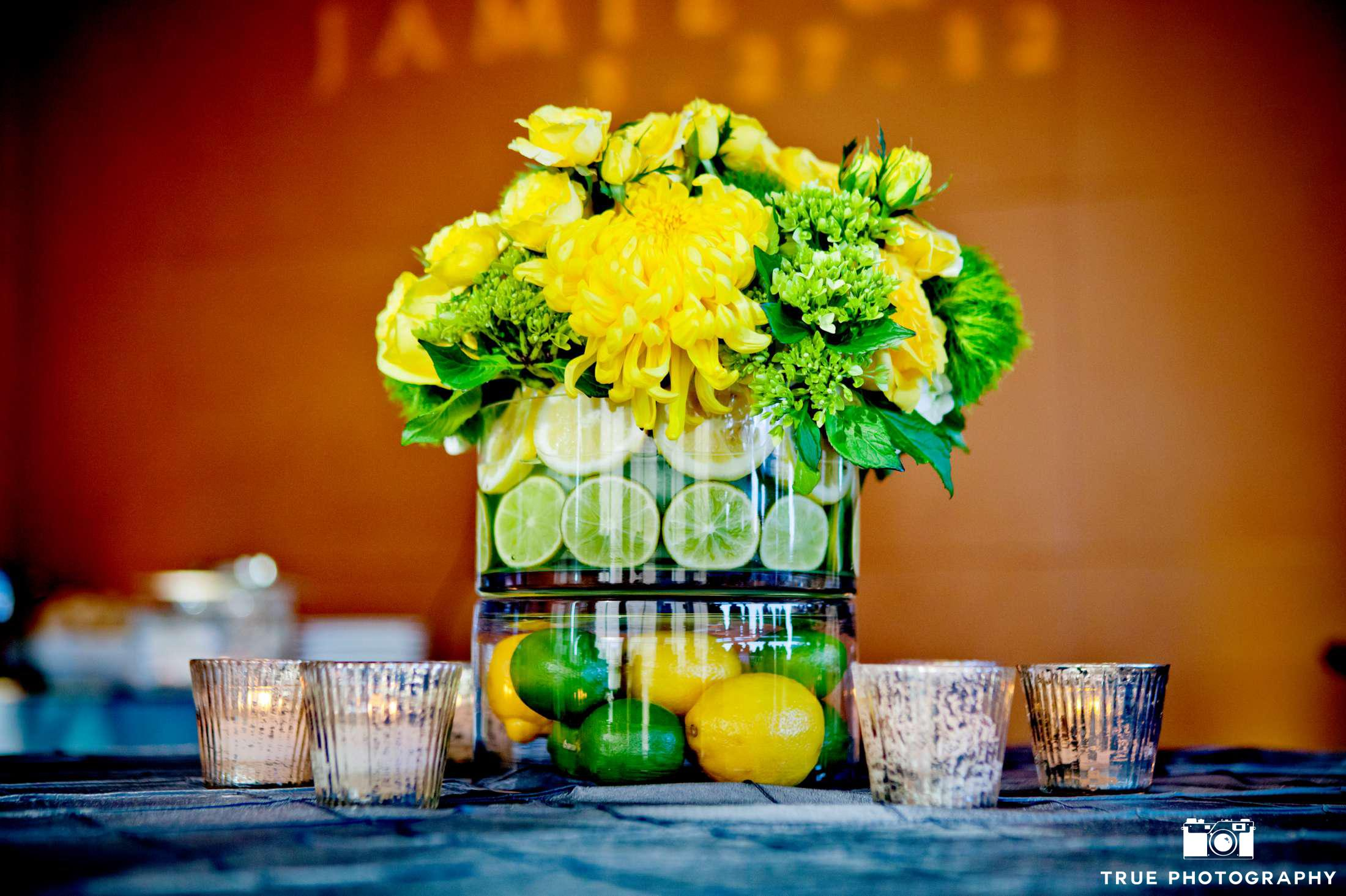 Citrus Wedding Lemon Lime Drink Display