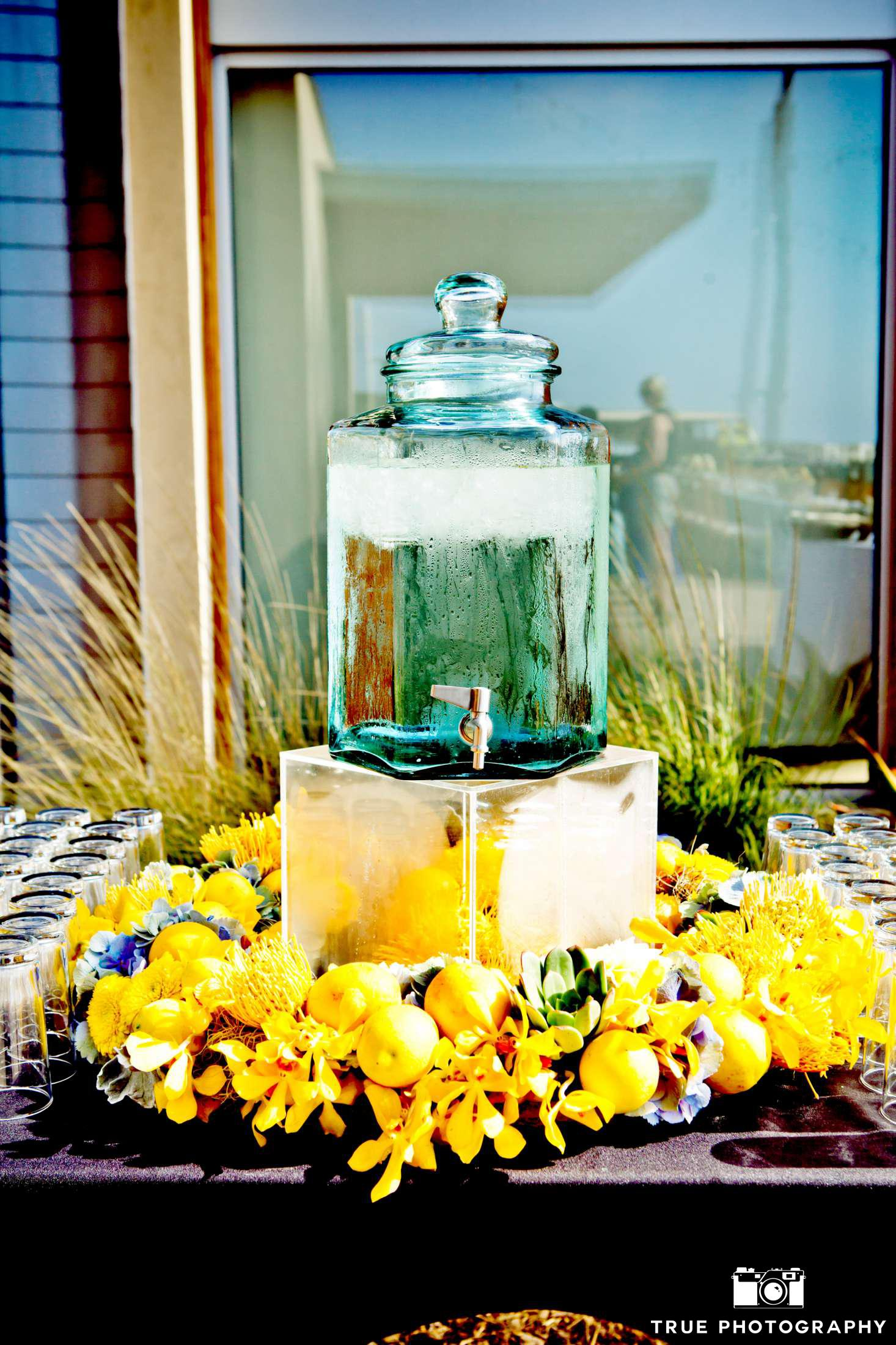 Citrus Wedding Lemon Water Beverage Station