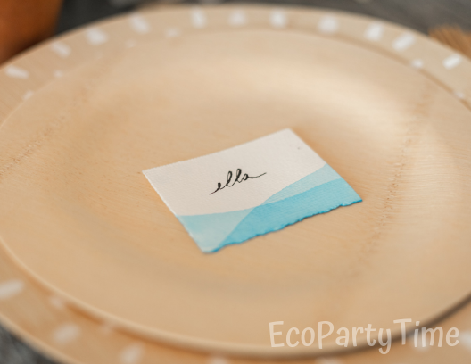 Hand painted Name Cards-Ecofriendly DIY Baby Shower