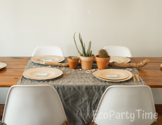 Ecofriendly DIY Baby Shower Party Table Setup