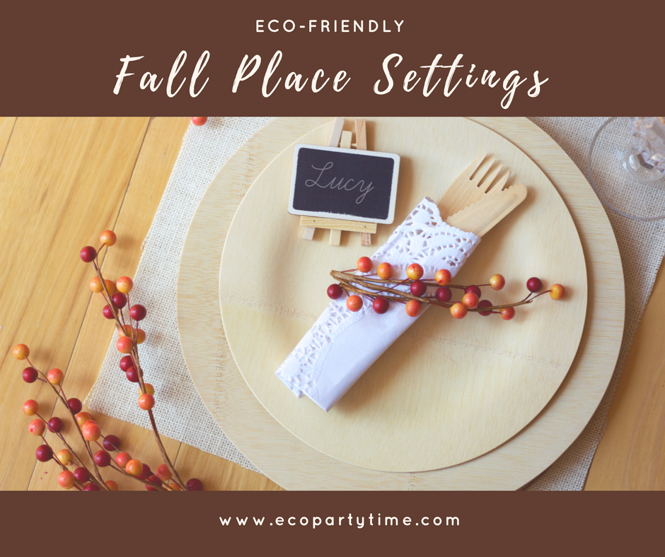 Ecopartytime: Fall Place Settings