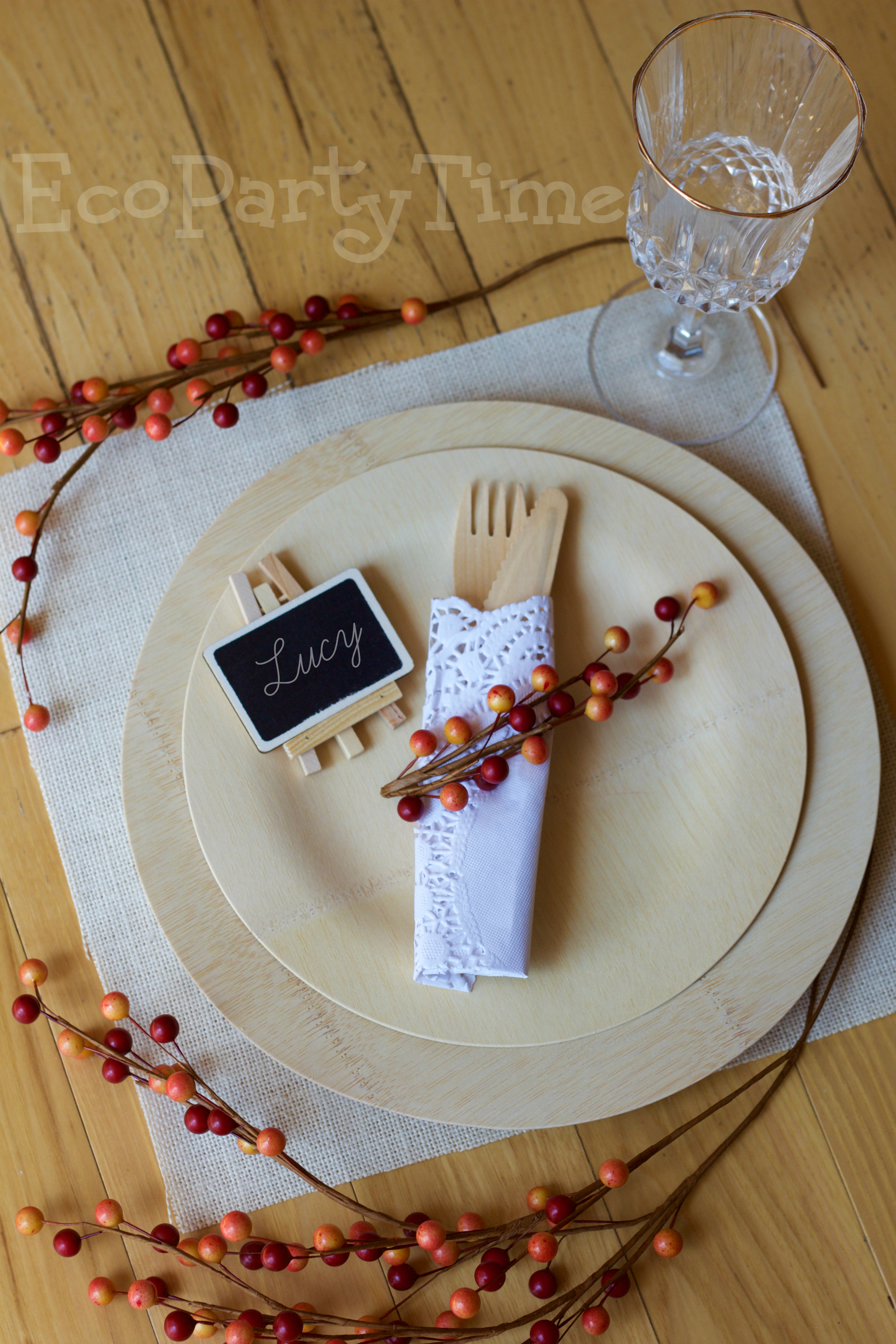 Ecopartytime: Eco-Friendly Fall Place Settings
