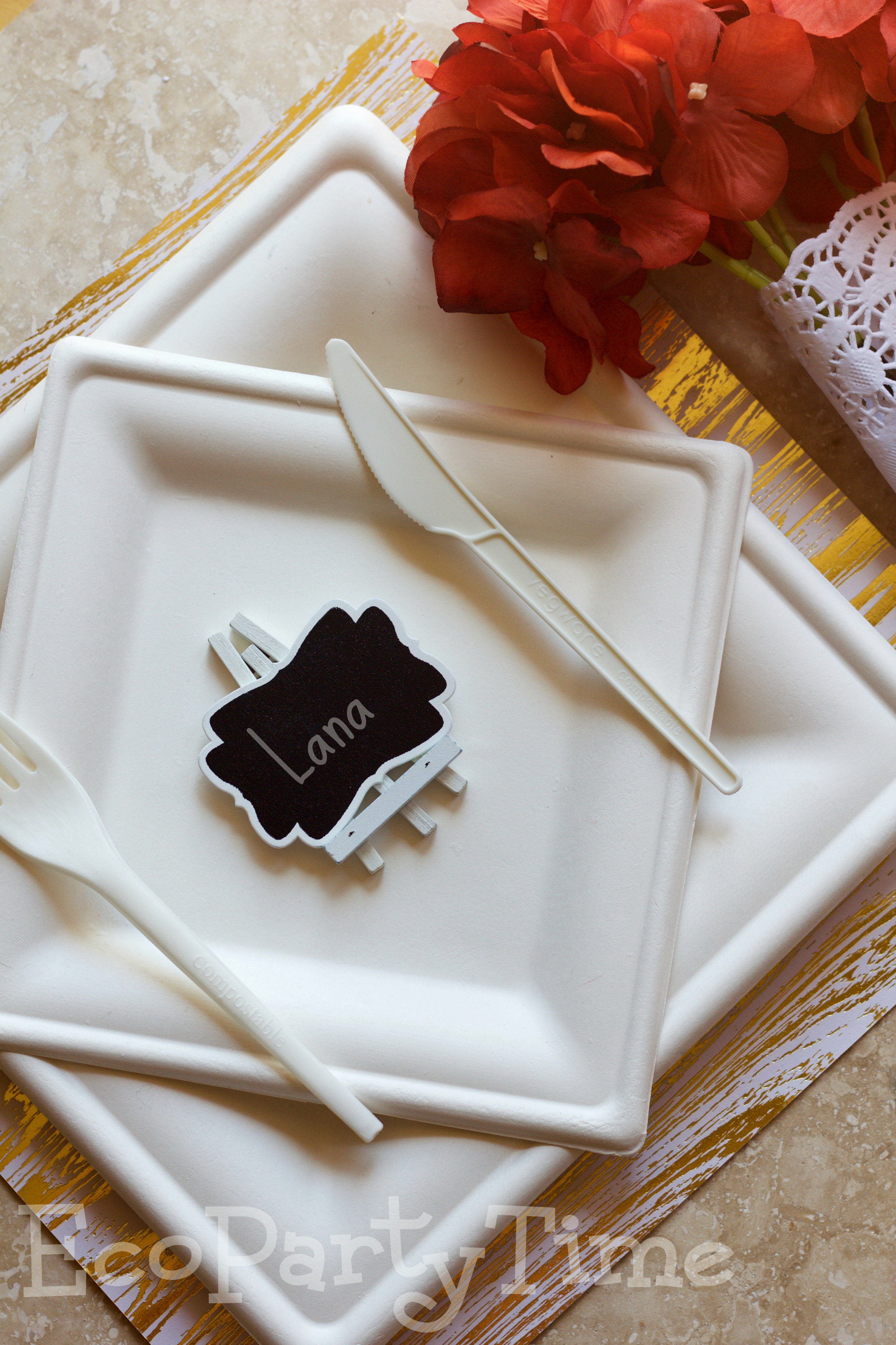 Eco Friendly Fall Place Settings - Ecopartytime