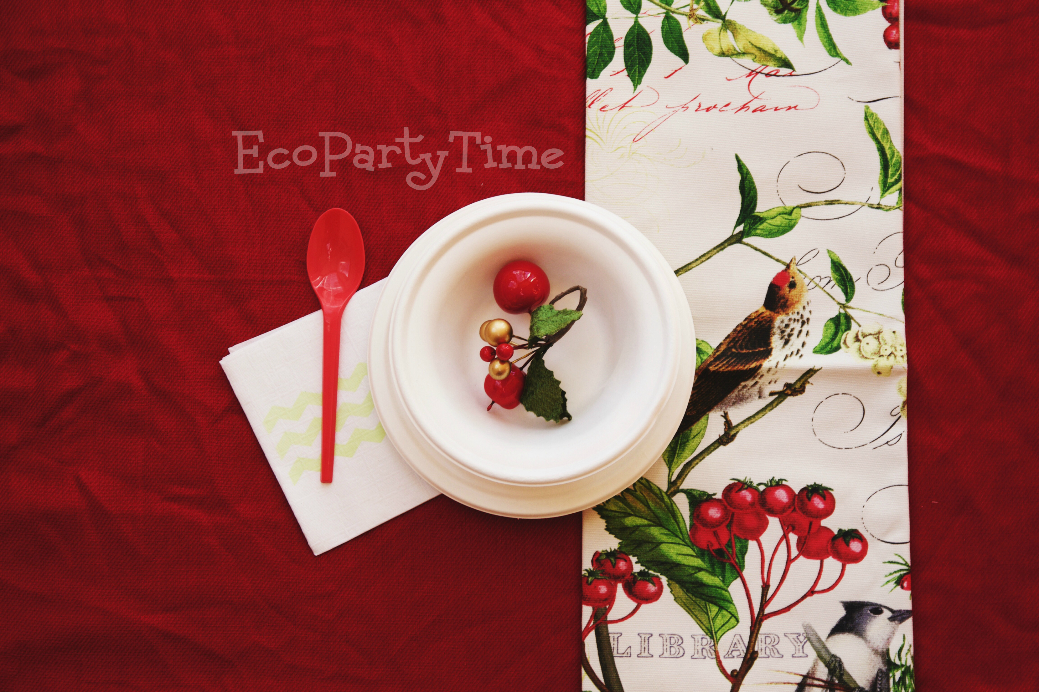 EcoPartyTime: Cheery Red Table Setting