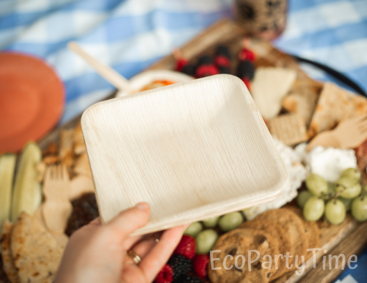 July4th Picnic Ecofriendly Palm Leaf Plates-Ecopartytime