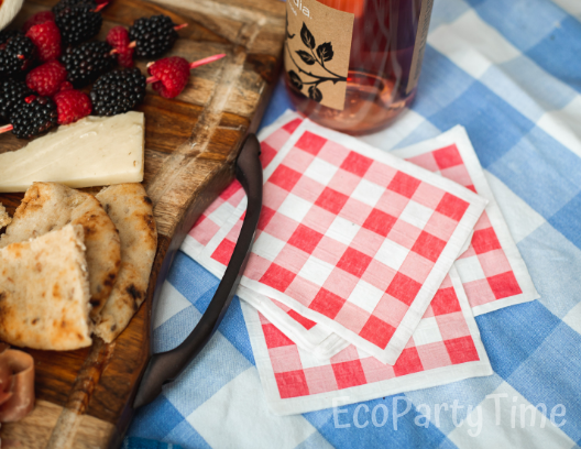 Ecofriendly Recycled Napkins July 4th Picnic-Ecopartytime