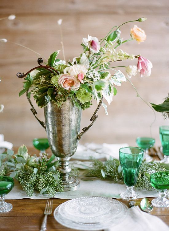 Kentucky Derby Wedding Flower Decor