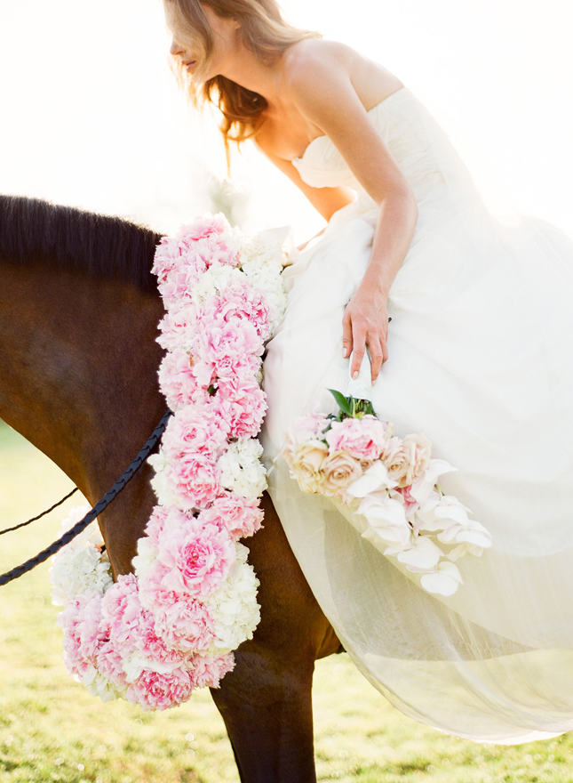 Kentucky Derby Wedding Bride on Horse