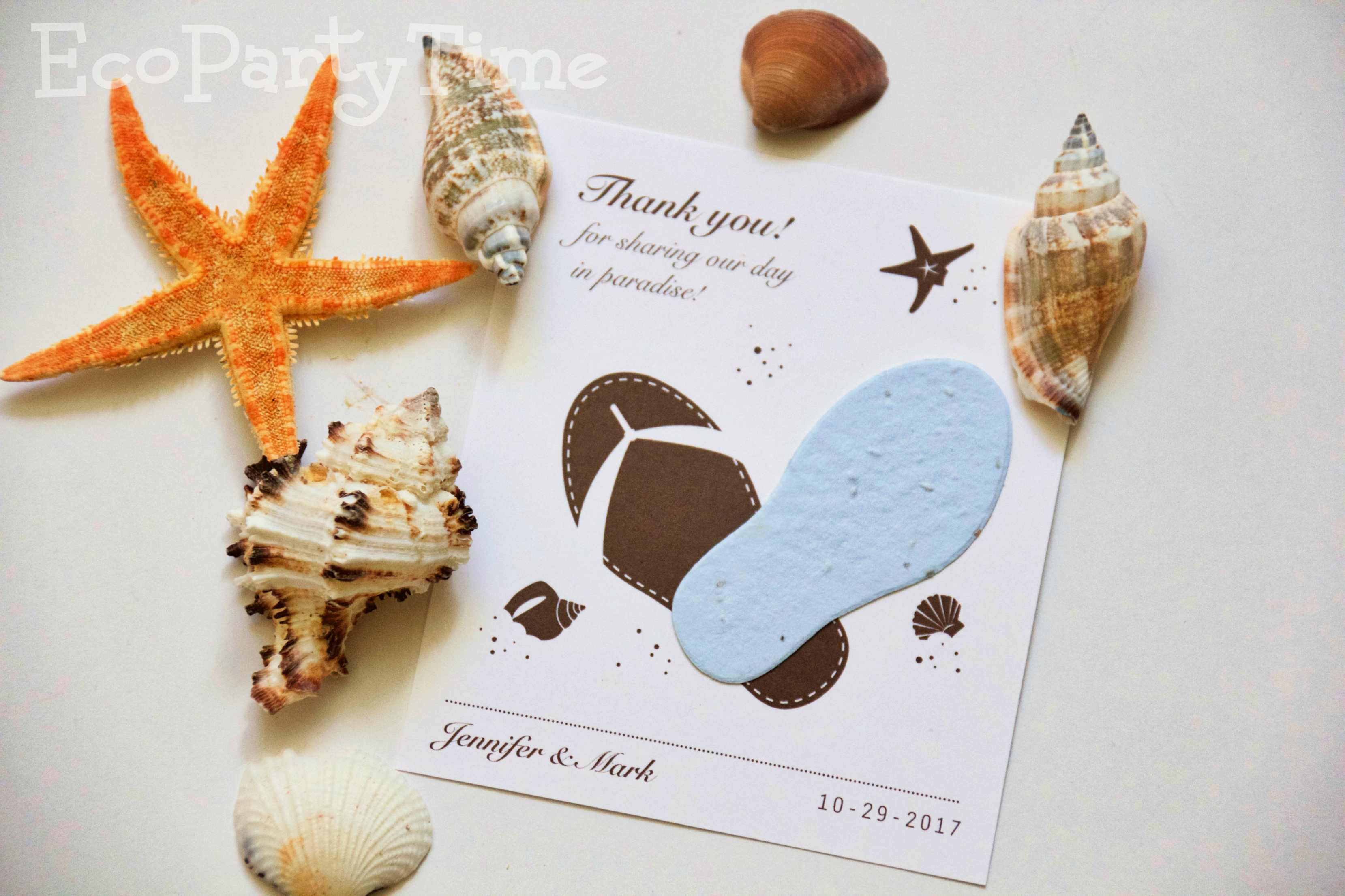 Ecopartytime: Eco Friendly Plantable Cards and Favors