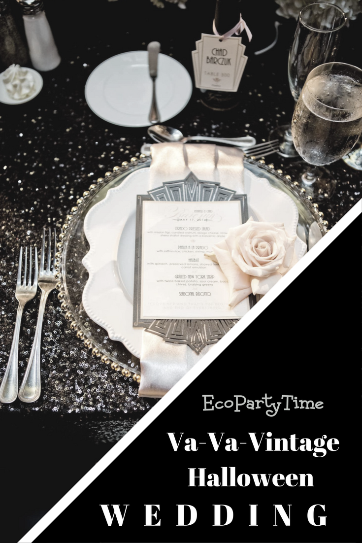 Ecopartytime: Va-Va-Vintage Halloween Wedding