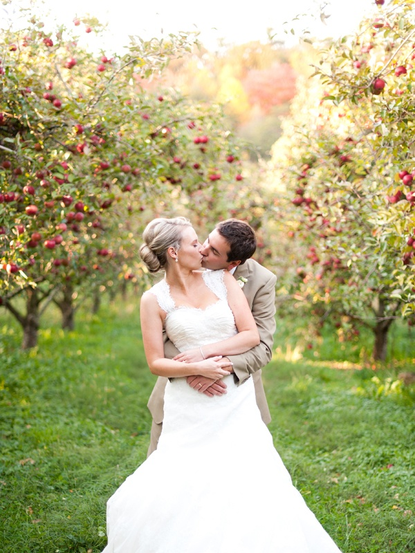 Sustainable Apple Wedding by Ecopartytime - Apple Orchard Photos