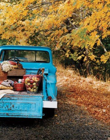 Sustainable Apple Wedding by Ecopartytime - Vintage Pickup Truck Apple Wedding