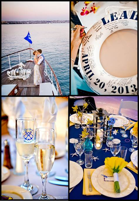 Nautical Wedding Theme Photos and Wedding Accents