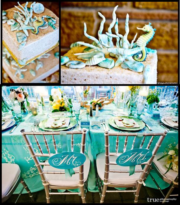 Beach Wedding Starfish Theme Wedding Cake Ideas