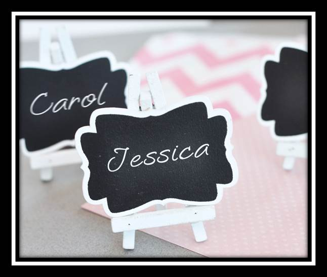 Chalkboard Theme Wedding Seating Cards