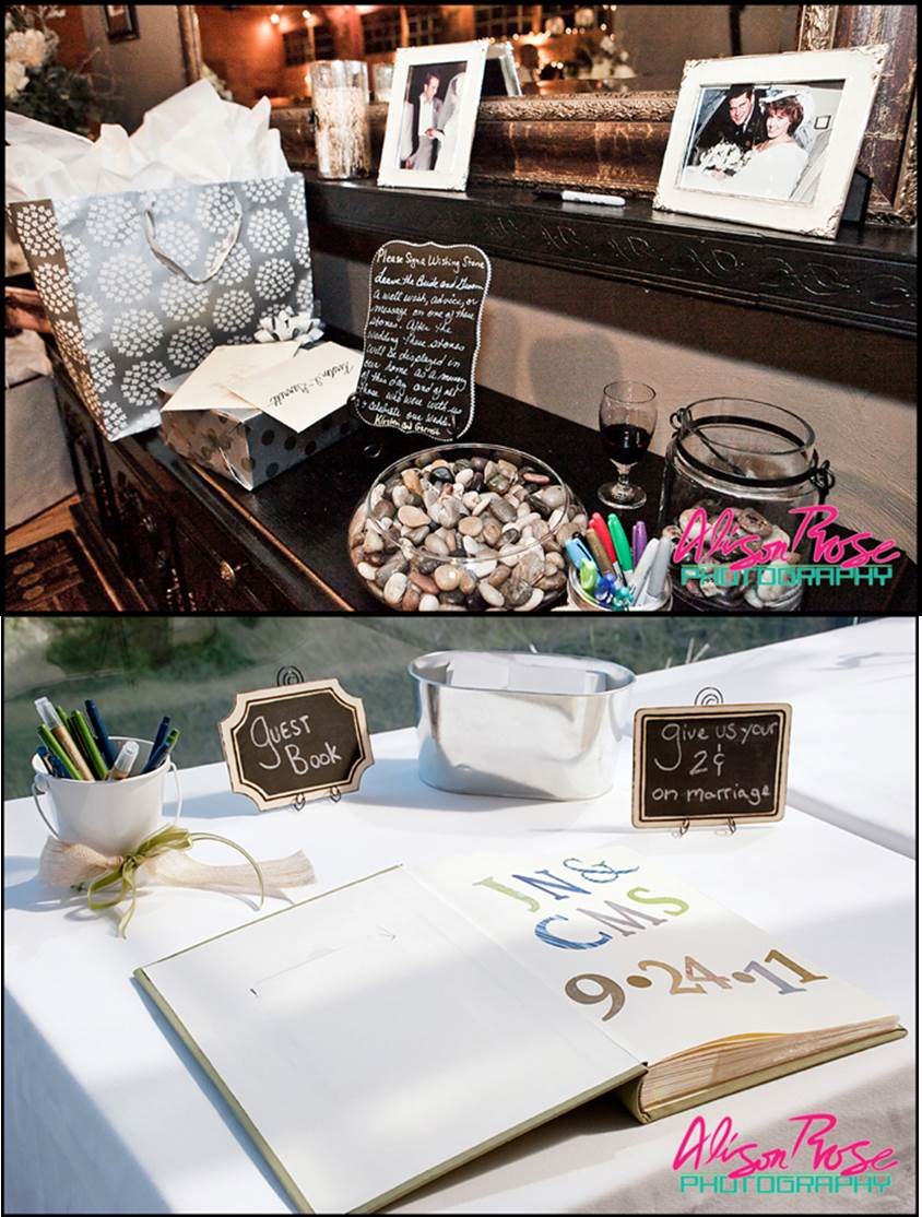 Chalk Theme Wedding Guestbook