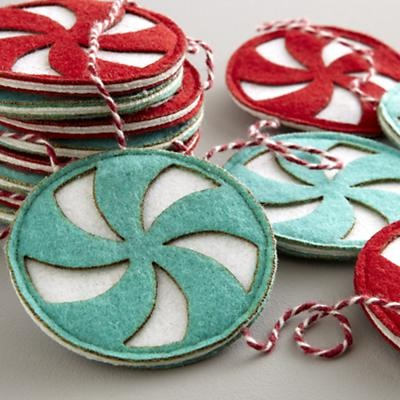 Holiday Cookies & Cocktail Ideas from Ecopartytime Pinwheel Felt Christmas Decorations