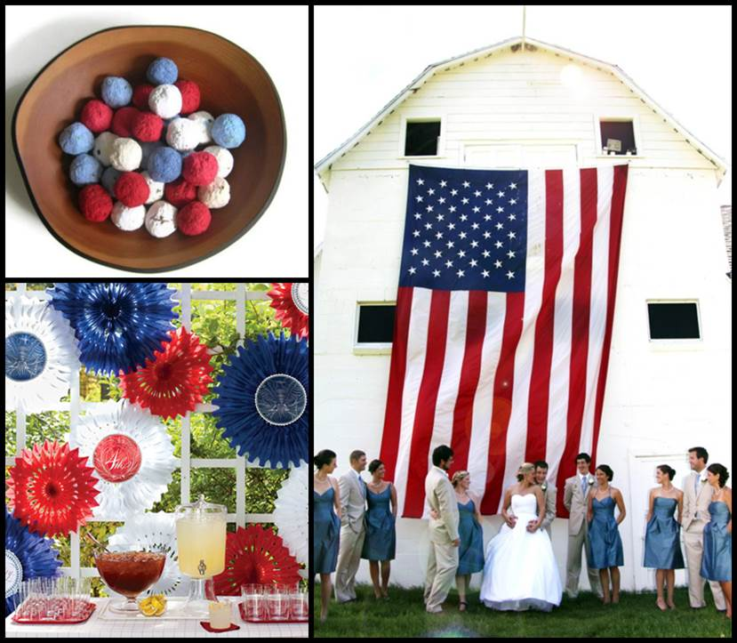Patriotic Wedding Decoration Ideas from ecopartytime.com