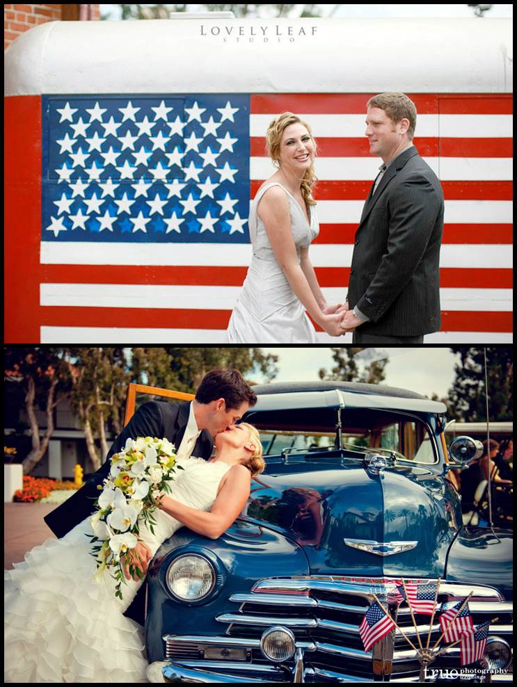 Patriotic Wedding Photo Op Ideas