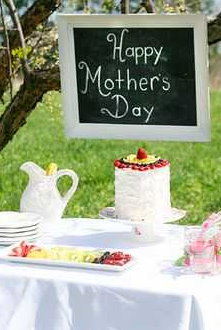 Mother's Day Tea Party - Chalkboard Sign