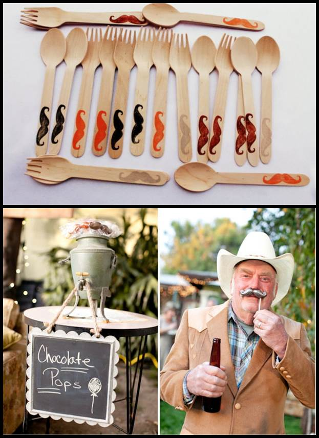 Mustache Eco Friendly Tableware for Weddings