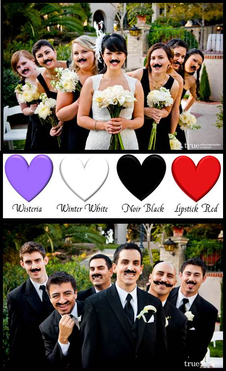 Eco Friendly Mustache Wedding Photo Ops