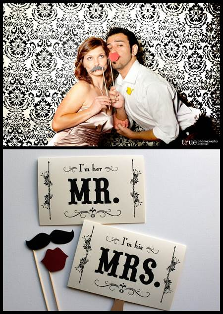 Mustache Wedding Photobooth Props