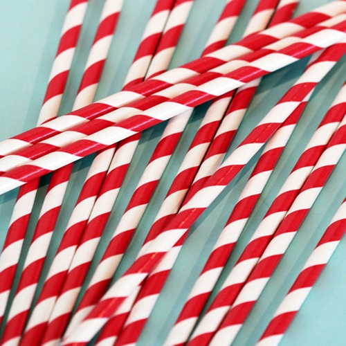Red Organic Paper Straws