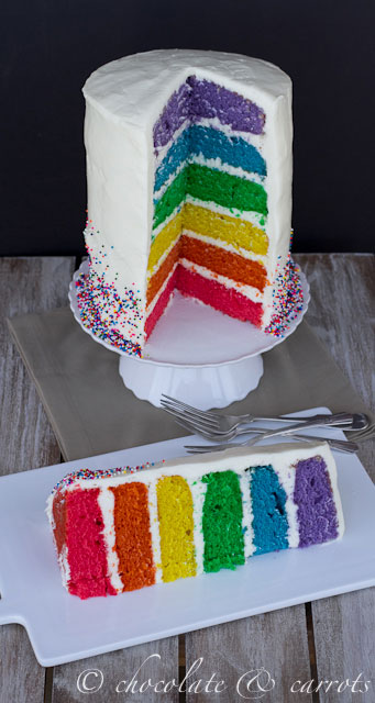 Rainbow Theme Layer Cake