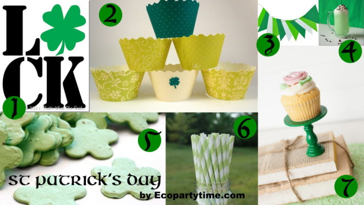 St. Patrick's Day Eco Inspirations from Ecopartytime.com