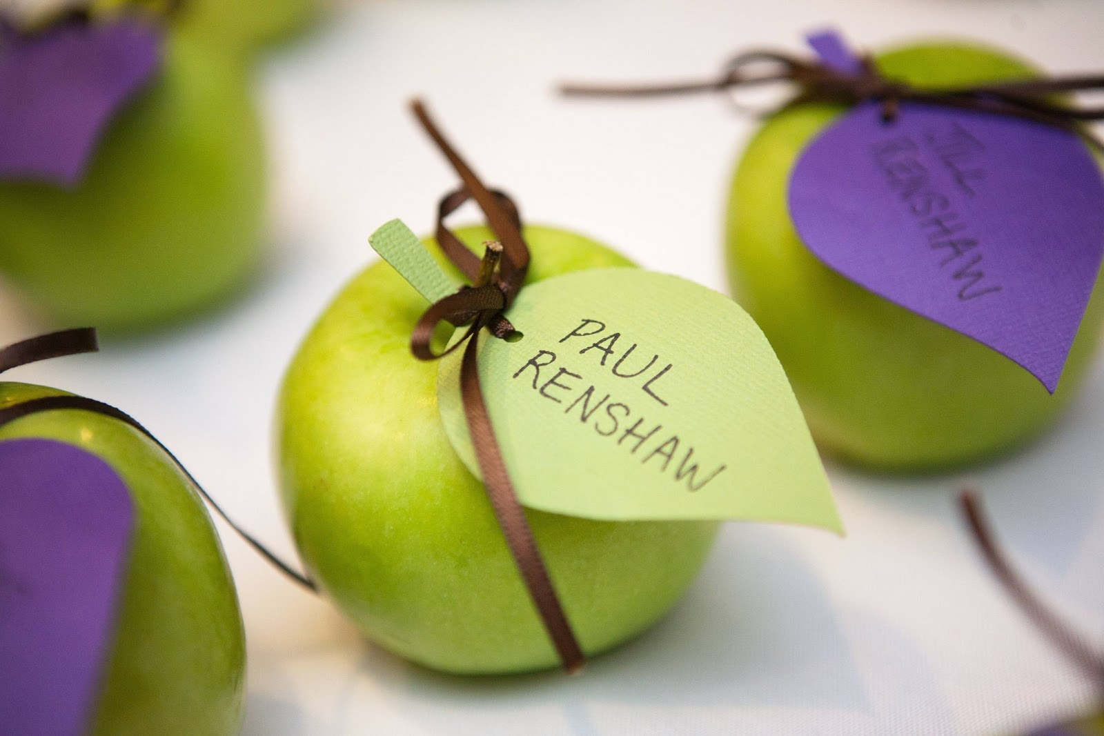 Sustainable Wedding - Apple Place Cards